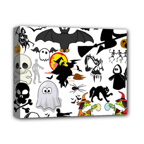 Halloween Mashup Deluxe Canvas 14  X 11  (framed)