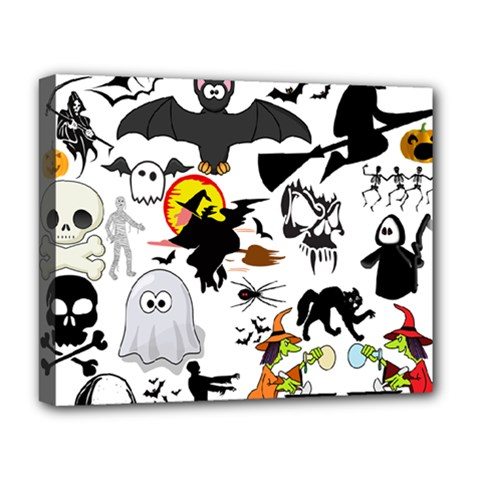 Halloween Mashup Deluxe Canvas 20  X 16  (framed)