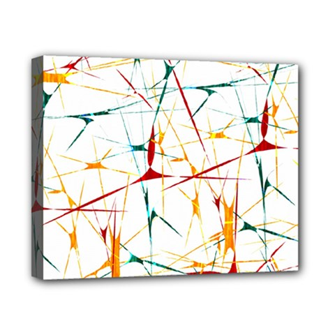 Colorful Splatter Abstract Shapes Canvas 10  x 8  (Framed)