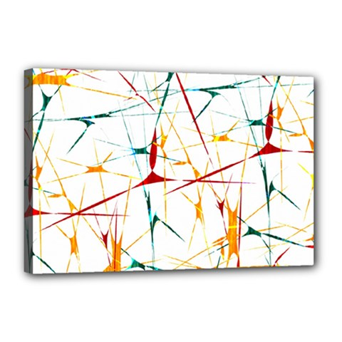 Colorful Splatter Abstract Shapes Canvas 18  x 12  (Framed)