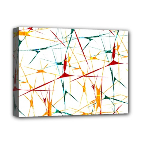 Colorful Splatter Abstract Shapes Deluxe Canvas 16  X 12  (framed)