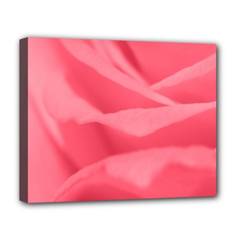 Pink Silk Effect  Deluxe Canvas 20  x 16  (Framed)