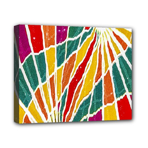 Multicolored Vibrations Canvas 10  X 8  (framed)