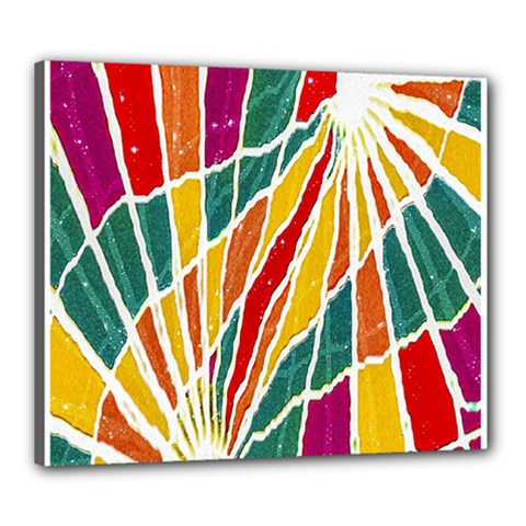 Multicolored Vibrations Canvas 24  x 20  (Framed)