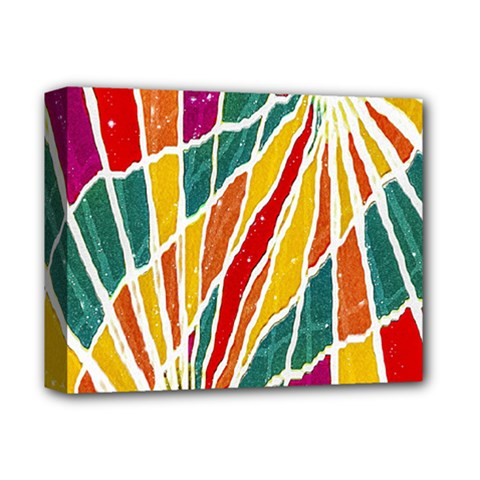 Multicolored Vibrations Deluxe Canvas 14  x 11  (Framed)