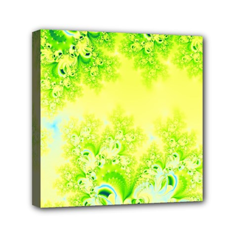 Sunny Spring Frost Fractal Mini Canvas 6  x 6  (Framed)