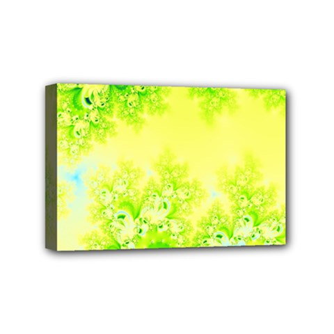 Sunny Spring Frost Fractal Mini Canvas 6  X 4  (framed)