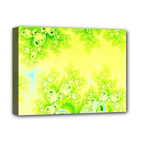 Sunny Spring Frost Fractal Deluxe Canvas 16  X 12  (framed)