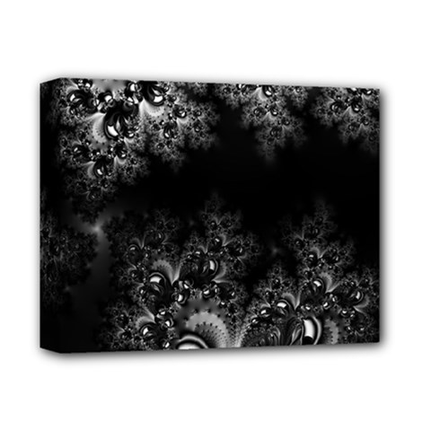 Midnight Frost Fractal Deluxe Canvas 14  X 11  (framed)