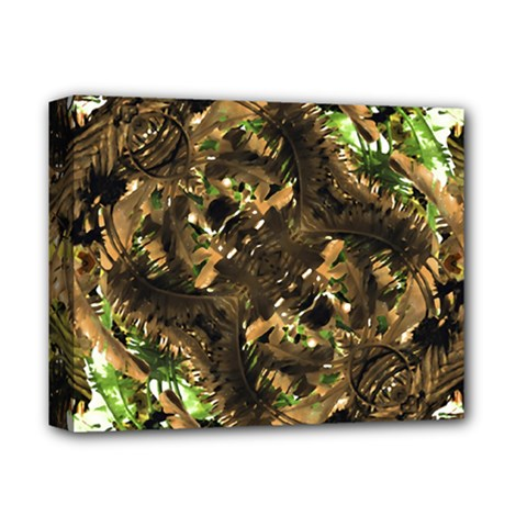 Artificial Tribal Jungle Print Deluxe Canvas 14  x 11  (Framed)