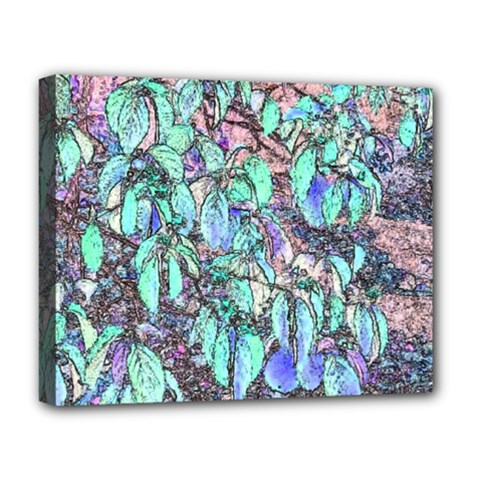 Colored Pencil Tree Leaves Drawing Deluxe Canvas 20  X 16  (framed)