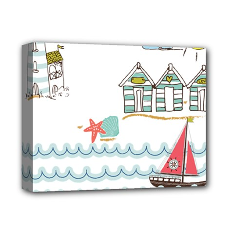 Summer Holiday Deluxe Canvas 14  x 11  (Framed)