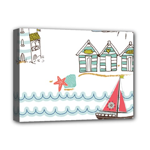 Summer Holiday Deluxe Canvas 16  x 12  (Framed)