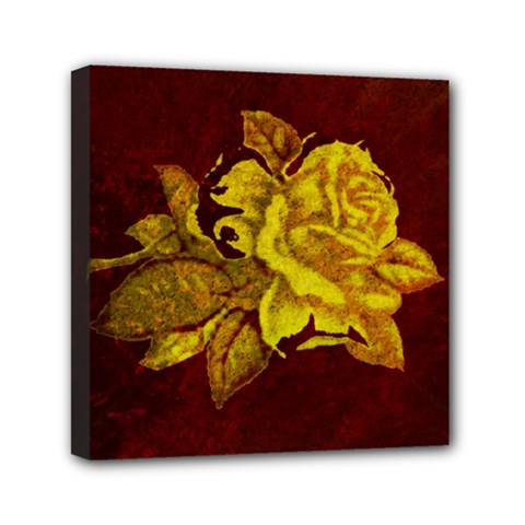 Rose Mini Canvas 6  x 6  (Framed)
