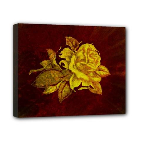 Rose Canvas 10  x 8  (Framed)