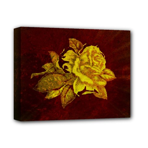 Rose Deluxe Canvas 14  x 11  (Framed)