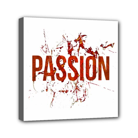 Passion and Lust Grunge Design Mini Canvas 6  x 6  (Framed)