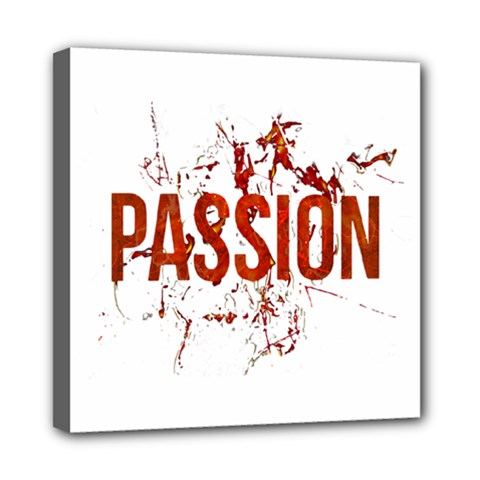 Passion and Lust Grunge Design Mini Canvas 8  x 8  (Framed)