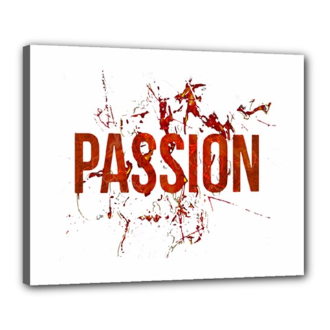 Passion And Lust Grunge Design Canvas 20  X 16  (framed)