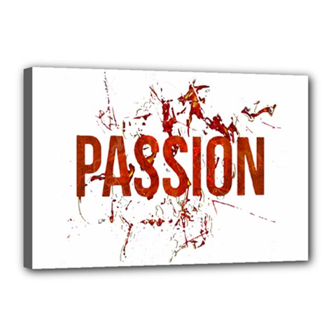 Passion And Lust Grunge Design Canvas 18  X 12  (framed)