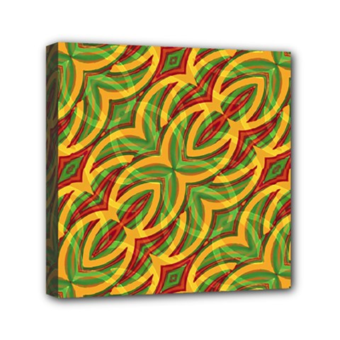 Tropical Colors Abstract Geometric Print Mini Canvas 6  x 6  (Framed)