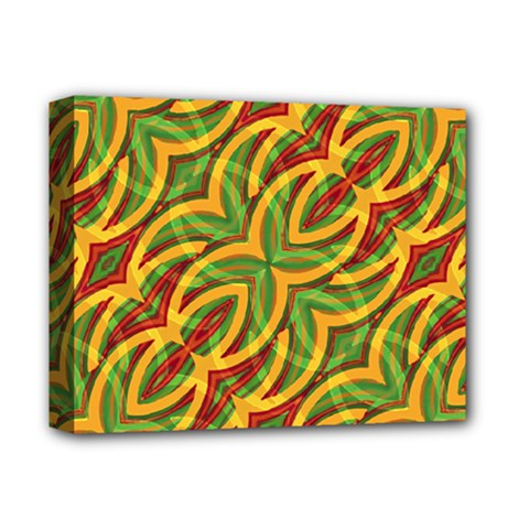 Tropical Colors Abstract Geometric Print Deluxe Canvas 14  x 11  (Framed)