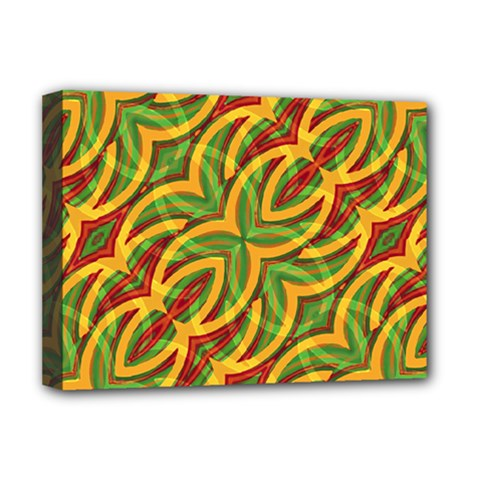 Tropical Colors Abstract Geometric Print Deluxe Canvas 16  x 12  (Framed)