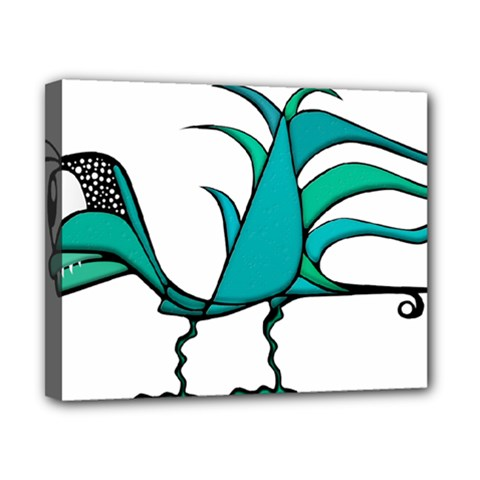Fantasy Bird Canvas 10  x 8  (Framed)
