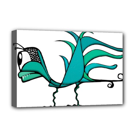 Fantasy Bird Deluxe Canvas 18  X 12  (framed)
