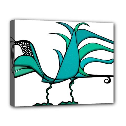 Fantasy Bird Deluxe Canvas 20  X 16  (framed)