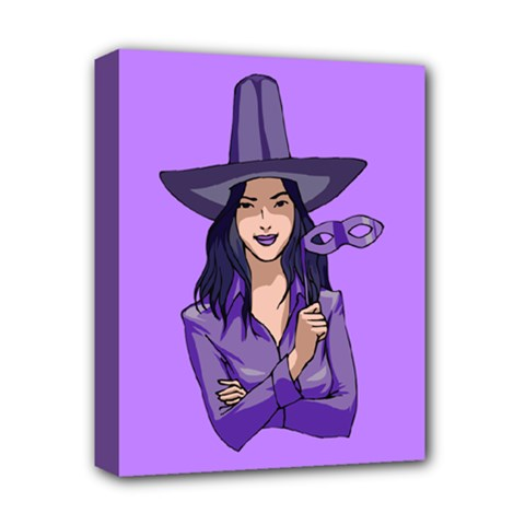 Purple Witch Deluxe Canvas 14  X 11  (framed)