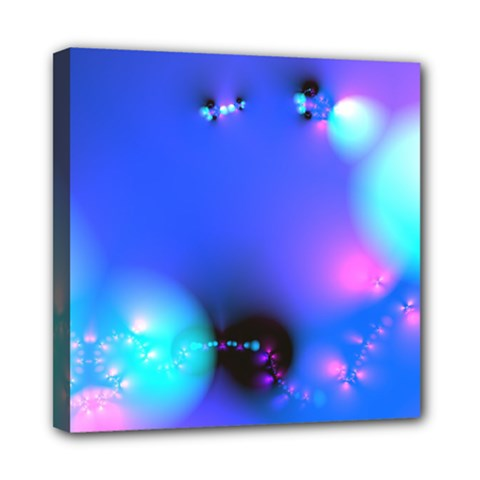 Love In Action, Pink, Purple, Blue Heartbeat 10000x7500 Mini Canvas 8  x 8  (Framed)