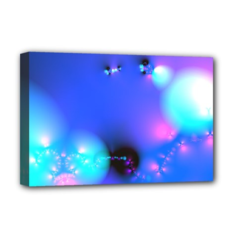 Love In Action, Pink, Purple, Blue Heartbeat 10000x7500 Deluxe Canvas 18  x 12  (Framed)
