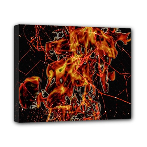 On Fire Canvas 10  x 8  (Framed)