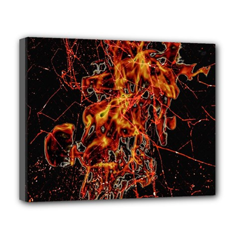 On Fire Deluxe Canvas 20  x 16  (Framed)