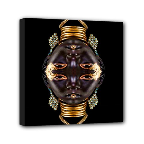 African Goddess Mini Canvas 6  X 6  (framed)