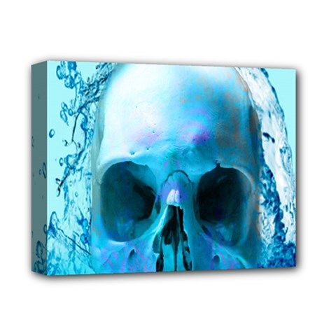 Skull In Water Deluxe Canvas 14  X 11  (framed)