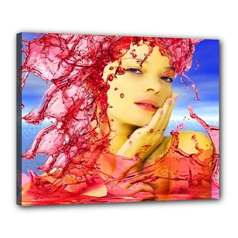 Tears Of Blood Canvas 20  X 16  (framed)