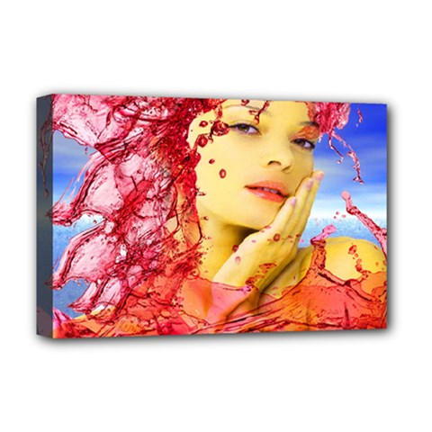 Tears Of Blood Deluxe Canvas 18  x 12  (Framed)