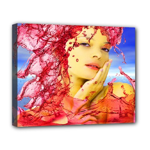 Tears Of Blood Deluxe Canvas 20  x 16  (Framed)