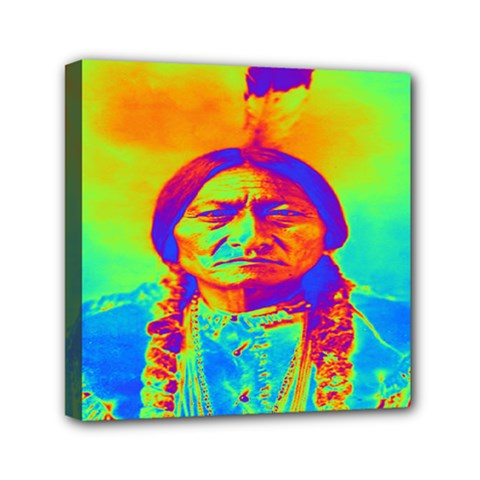 Sitting Bull Mini Canvas 6  x 6  (Framed)