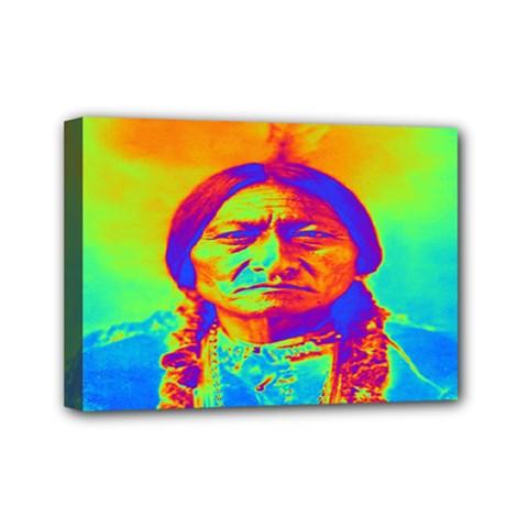 Sitting Bull Mini Canvas 7  x 5  (Framed)
