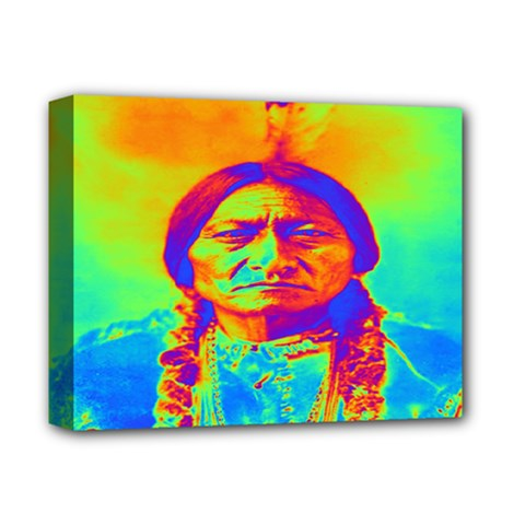Sitting Bull Deluxe Canvas 14  x 11  (Framed)