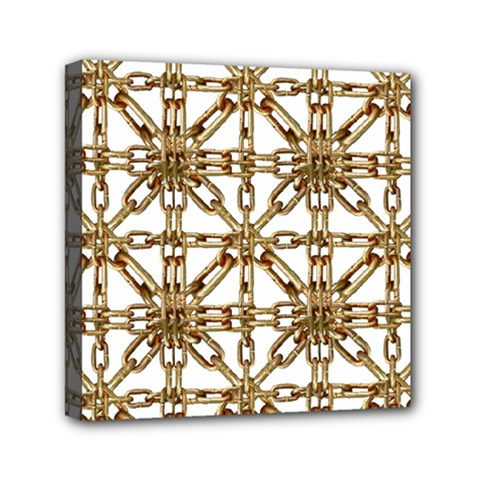 Chain Pattern Collage Mini Canvas 6  x 6  (Framed)
