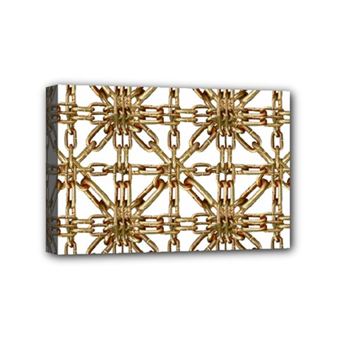 Chain Pattern Collage Mini Canvas 6  x 4  (Framed)