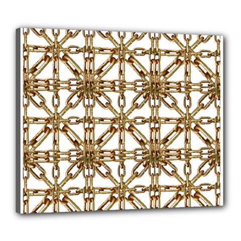 Chain Pattern Collage Canvas 24  x 20  (Framed)