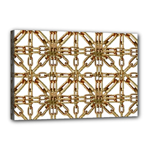 Chain Pattern Collage Canvas 18  x 12  (Framed)