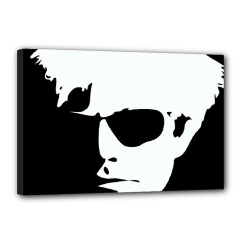 Warhol Canvas 18  x 12  (Framed)