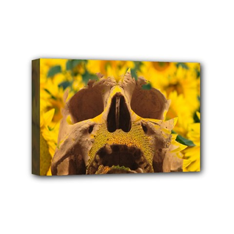 Sunflowers Mini Canvas 6  x 4  (Framed)