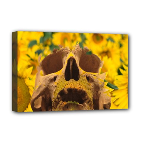 Sunflowers Deluxe Canvas 18  x 12  (Framed)
